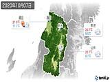 2020年10月07日の山形県の実況天気