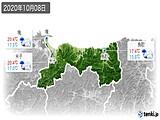 2020年10月08日の鳥取県の実況天気