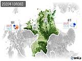 2020年10月08日の福岡県の実況天気