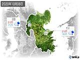 2020年10月08日の大分県の実況天気