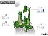 2020年10月08日の青森県の実況天気