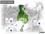2020年10月09日の兵庫県の実況天気