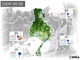 2020年10月10日の兵庫県の実況天気