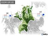 2020年10月10日の福岡県の実況天気
