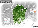 2020年10月11日の岡山県の実況天気