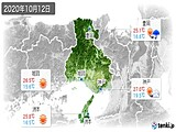 2020年10月12日の兵庫県の実況天気