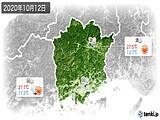 2020年10月12日の岡山県の実況天気