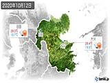 2020年10月12日の大分県の実況天気