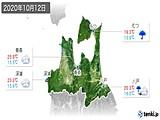 2020年10月12日の青森県の実況天気