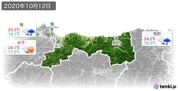 鳥取県(2020年10月12日の天気