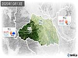 2020年10月13日の埼玉県の実況天気