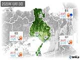 2020年10月13日の兵庫県の実況天気