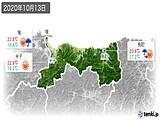 2020年10月13日の鳥取県の実況天気