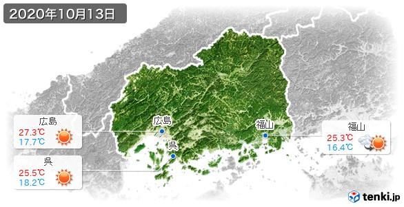 広島県(2020年10月13日の天気
