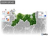 2020年10月14日の鳥取県の実況天気
