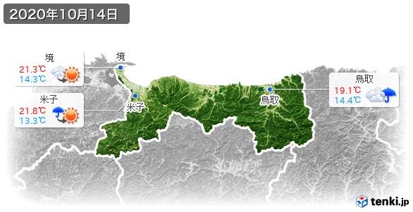 鳥取県(2020年10月14日の天気