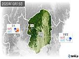 2020年10月15日の栃木県の実況天気