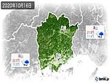 2020年10月16日の岡山県の実況天気
