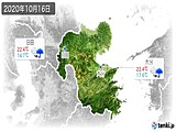 2020年10月16日の大分県の実況天気