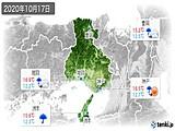 2020年10月17日の兵庫県の実況天気