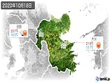 2020年10月18日の大分県の実況天気