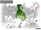2020年10月19日の兵庫県の実況天気