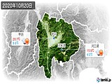 2020年10月20日の山梨県の実況天気
