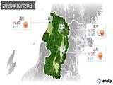 2020年10月20日の山形県の実況天気