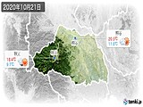 2020年10月21日の埼玉県の実況天気