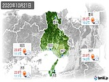 2020年10月21日の兵庫県の実況天気