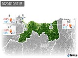 2020年10月21日の鳥取県の実況天気