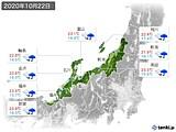 2020年10月22日の北陸地方の実況天気