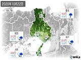 2020年10月22日の兵庫県の実況天気