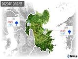 2020年10月22日の大分県の実況天気