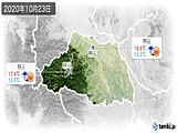 2020年10月23日の埼玉県の実況天気