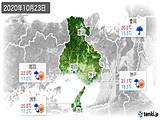 2020年10月23日の兵庫県の実況天気