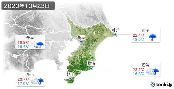 千葉県(2020年10月23日の天気