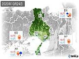 2020年10月24日の兵庫県の実況天気