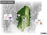 2020年10月25日の栃木県の実況天気