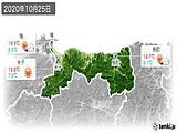 2020年10月25日の鳥取県の実況天気