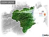 2020年10月25日の徳島県の実況天気