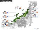 2020年10月26日の北陸地方の実況天気