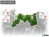 2020年10月26日の鳥取県の実況天気