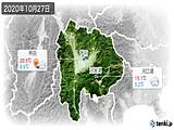 2020年10月27日の山梨県の実況天気