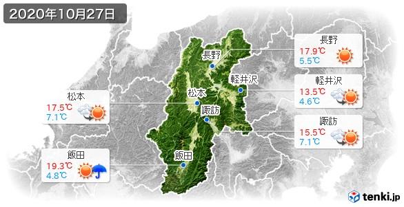 長野県(2020年10月27日の天気