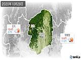 2020年10月28日の栃木県の実況天気