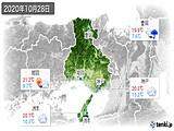 2020年10月28日の兵庫県の実況天気