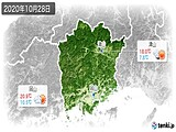2020年10月28日の岡山県の実況天気