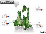 2020年10月28日の青森県の実況天気
