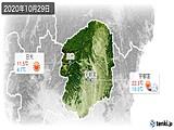 2020年10月29日の栃木県の実況天気